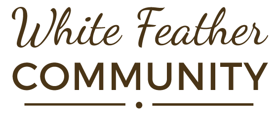 White Feather Community Logo Text Only